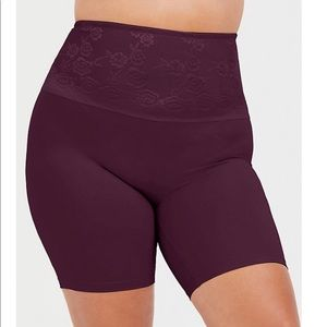 Torrid Burgundy 360° Smoothing High Waist Short